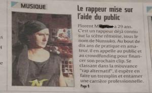 l'article d'anais gerbaud sur l'artiste nunsuko pour le clip pole emploi Anaïs Gerbaud est une journaliste culture, musique actuelle de la ville de Reims et bosse à l'union Reims. Elle a interviewé l'artiste rap Nunsuko