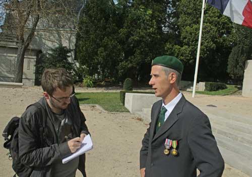 monument aux morts reims journaliste l'union interview vétéran